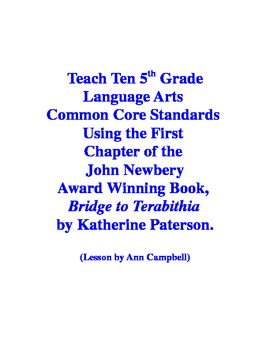 Teacher Read-Aloud of First Chapter of Bridge to Terabithi