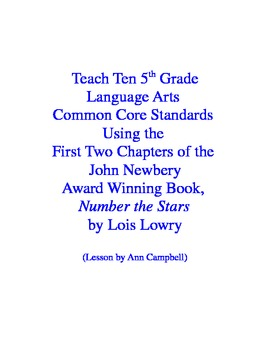 Teacher Read-Aloud of One Chapter of Number the Stars Using CCSS