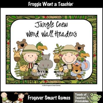 Teacher Resource Scrappin Doodles Graphics Jungle Crew Wor