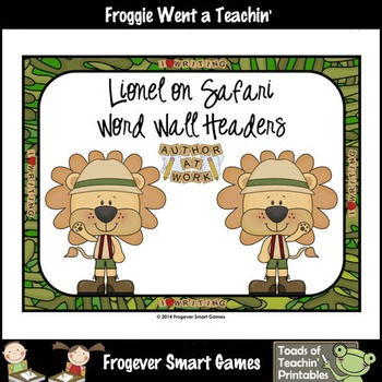 Teacher Resource--Scrappin Doodles Graphics Lionel on Safa