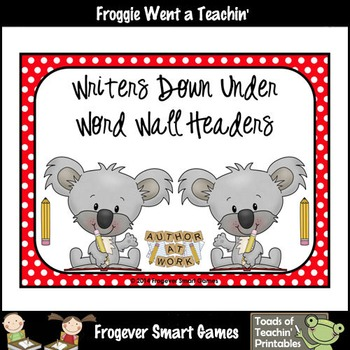 Teacher Resource--Scrappin Doodles Graphics Writers Down U