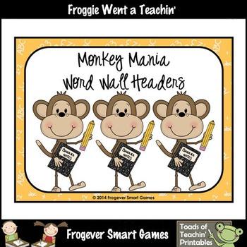 Teacher Resource--Scrappin Doodles Graphics Monkey Mania W