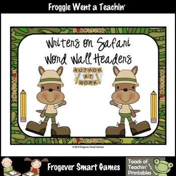 Teacher Resource--Writers on Safari Word Wall Headers (Kangaroos)