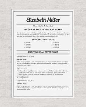 Teacher Resume Bundle