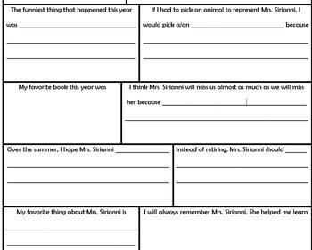 Teacher Retirement Questionnaire