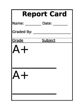 Teacher Retirement Report Card from Students