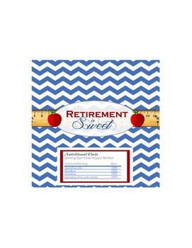 Teacher Retirement is Sweet Hershey Bar Favor Wrapper
