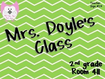 Teacher Sign #19 EDITABLE