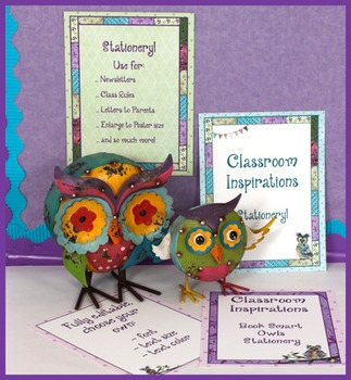 Teacher Stationery  –  Coordinates with Book Smart Owls Cl
