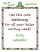 Teacher Stationery - Coordinates with Turtle Time Classroom Theme