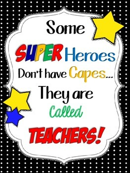 Teacher Super Heroes