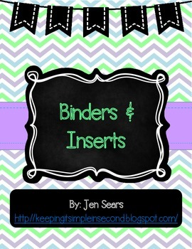 Binder Covers and Inserts (Light)