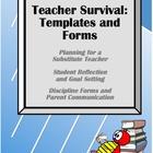Teacher Survival-Substitute, Reflection, Goals, Discipline