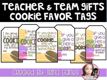 Teacher & Team Gifts Cookie Favor Tags