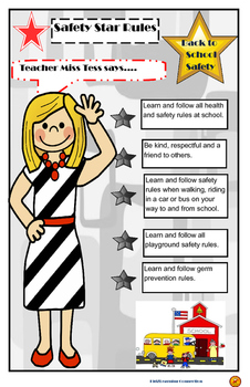 Teacher Tess's Back to School Safety Poster
