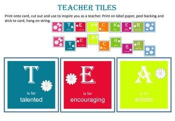 Teacher Tiles