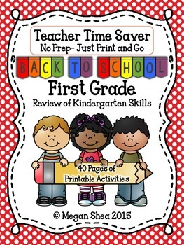 Teacher Time Saver: Back To School No Prep Activities for