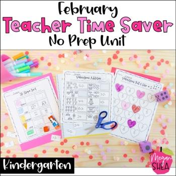 Teacher Time Saver: February No Prep Activities for Kindergarten