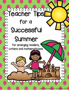 Teacher Tips for a Successful Summer - Report Card insert