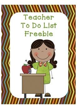 Teacher To Do List Free