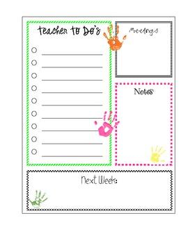 Teacher To Do List Printable