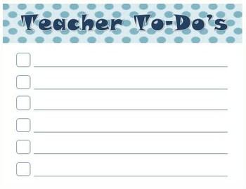 Teacher To-Do's