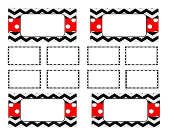 Teacher Tool Box Labels (editable)- Black Chevron
