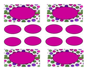 Teacher Tool Box Labels (editable)-Purple Green and Pink B
