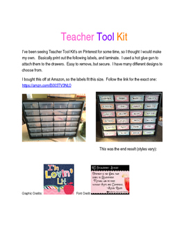 Teacher Tool Kit - Black with white polka dots