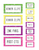 Teacher Toolbox - Bright Labels