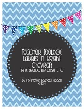 Teacher Toolbox Chevron Labels