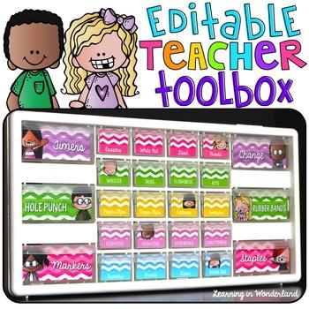 Teacher Toolbox - Editable {Melonheadz Edition}