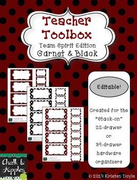 Teacher Toolbox - Garnet & Black - Team Spirit