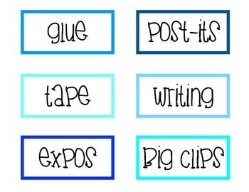 Teacher Toolbox Labels!