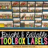 Teacher Toolbox Labels (BRIGHT)