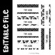 Black and White Teacher Toolbox Labels