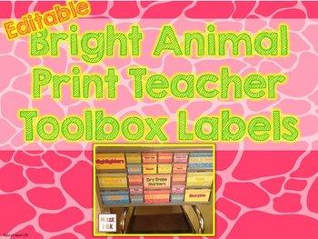 Teacher Toolbox Labels - Editable