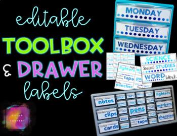 Teacher Toolbox Labels {FREEBIE}