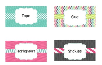 Teacher Toolbox Labels (Includes 9 large labels and 30 sma