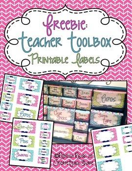 Teacher Toolbox - Printable Labels