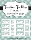 Teacher Toolbox Labels: (Editable) Teal