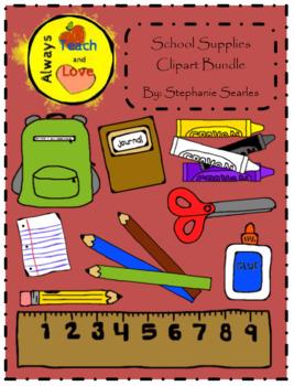 Teacher Tools: School Supplies Clipart Bundle
