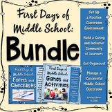 Classroom Management: First Days of Middle School - Bundle