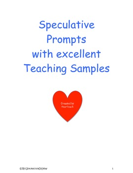 """""""Teacher Tools"""" for Narrative/Speculative Writing"""