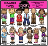 Teacher Types Clip Art Bundle