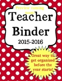 Back to School Ultimate Teacher Binder in RED