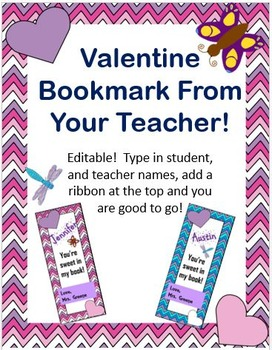 Teacher Valentine Bookmarks