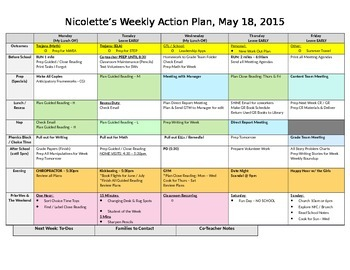 Teacher Weekly Organization & Productivity Planner