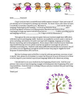 Teacher Welcome Letter