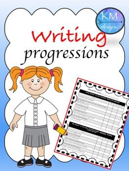 Teacher Writing progression